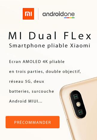 Xiaomi smartphone pliable Pub