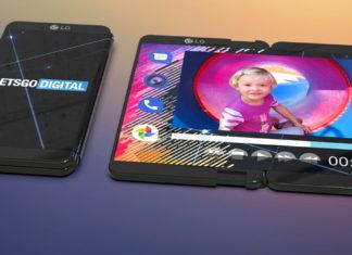 LG smartphone pliant