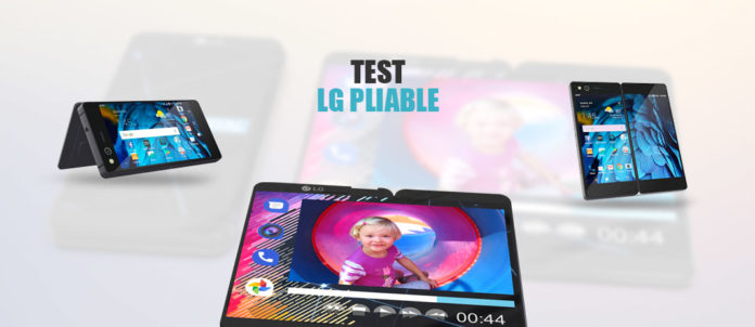 Test telephone LG pliable